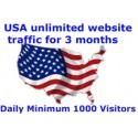 Pro Tag 1000+ USA unbegrenzt Website - Traffic für 3 Monate
