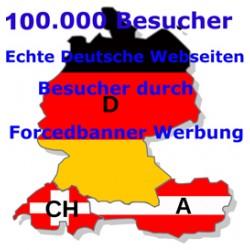 TOP 1000.000 ECHTE Deutschsprachige Besucher  durch Forcedbanner Werbung Klicks