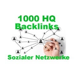 1000 Contextual backlinks from social networks articles
