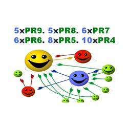 5 x PR9, 5x PR8, 6x PR7, 6 x PR6, 8xPR5, 10xPR4 HQ Backlinks 100% Handeinträge