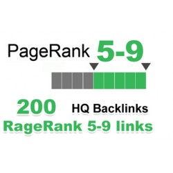 Top HQ 200 + Backlinks für Ihre Links / Keywords in nur 3-9 Websites PR.