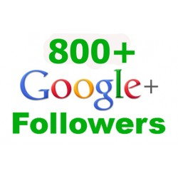 800 Google + Followers