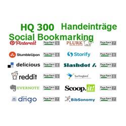 300 HIGH PR Social Bookmark Premium-Qualität Backlinks Handeinträge