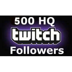 500 HQ Twitch Followers