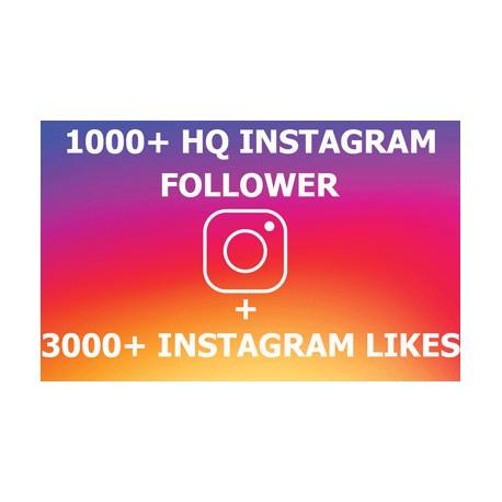 1000 Instagram Followers + 3000 Likes