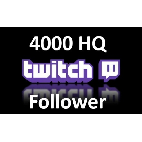 4000 Twitch Follower Kaufen