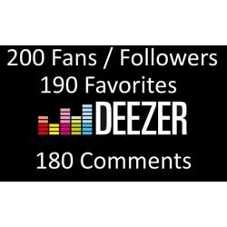 Buy Deezer Fans favorites Comments