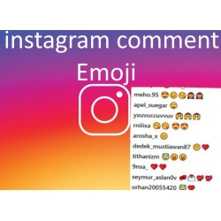 Buy Instagram comments Emoji