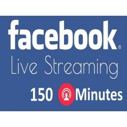 150 Minuten Facebook Live Stream Kaufen