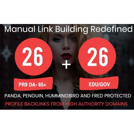 We will submit 26 PR9 + 26 EDU/GOV High PR Backlinks
