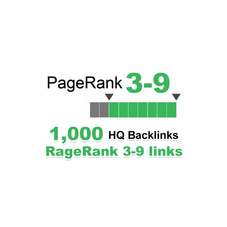 We will submit 1,000+ backlinks for your links/keywords in only PR 3-9 sites.
