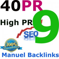 We will submit 40+ PR 9 HQ Backlinks for your links/keywords in only PR 9 sites.