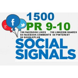1500 HQ PR9-PR10 Social Signale Backlink Monster -5 BEST Social Media Website