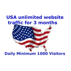 Daily Minimum 1000+USA Traffics To Your Website Or Any Link For 3 months