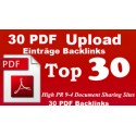 30 PDF submissions using your document file better for Backlinks seo