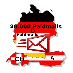 Mail Online Advertising standalone Paidmail 20,000 recipients + Statistics + clicks