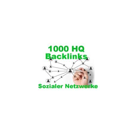 Top HQ 1.000 + Backlinks für Ihre Links / Keywords in Sozialer Netzwerke