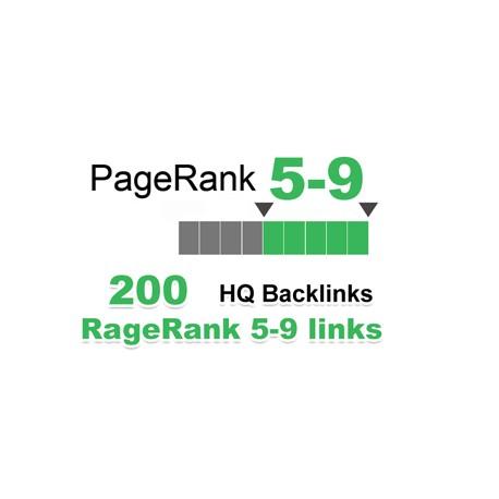 Top HQ 200 + Backlinks für Ihre Links / Keywords in nur 3-9 Websites PR.