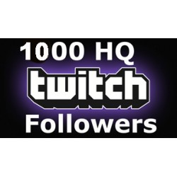 1000 HQ Twitch Followers