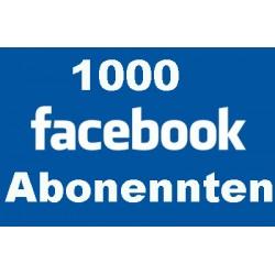 1000+ FACEBOOK SUBSCRIBERS