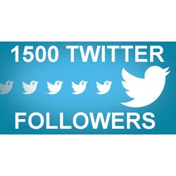 1500 TWITTER Followers