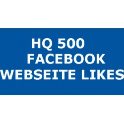 HQ 500 FACEBOOK WEBSEITE LIKES