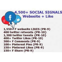4500 HQ PR9-PR10 Social Signale+ Webseite Like -5 BEST Social Media Website
