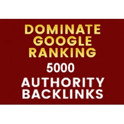 Google Rank With 5000 Authority Seo Backlinks