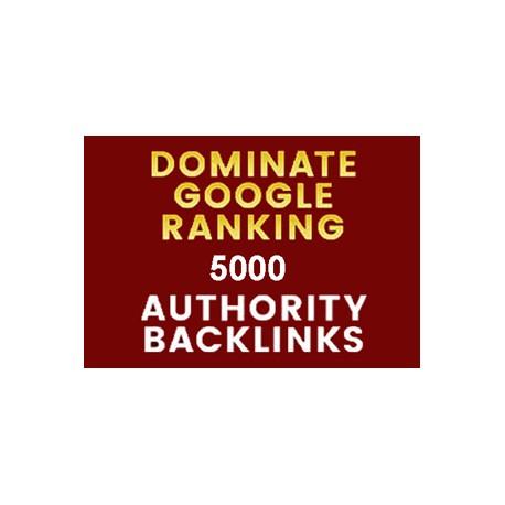 Google Rank mit 5000 Autorität Seo Backlinks Website-Ranking
