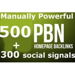 500 PBN Backlinks + 300 social signals