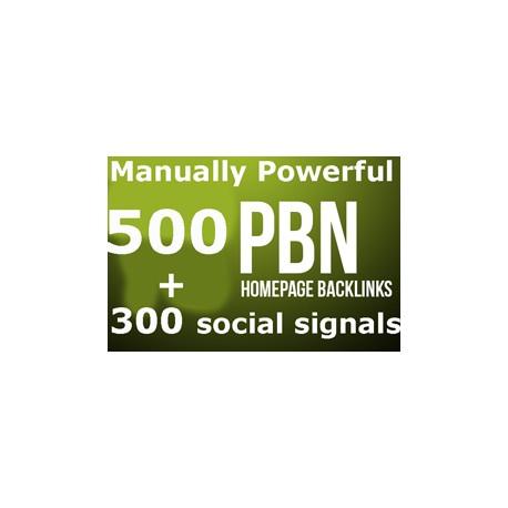 500 PBN Backlinks + 300 social signals