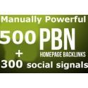 500 PBN backlinks on 500 different websites