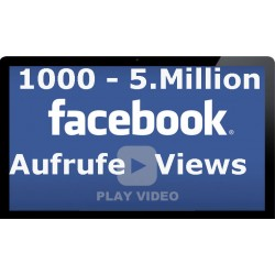 1.000 bis 5.000.000 HQ FACEBOOK VIDEO Klicks für Ihre Facebook video
