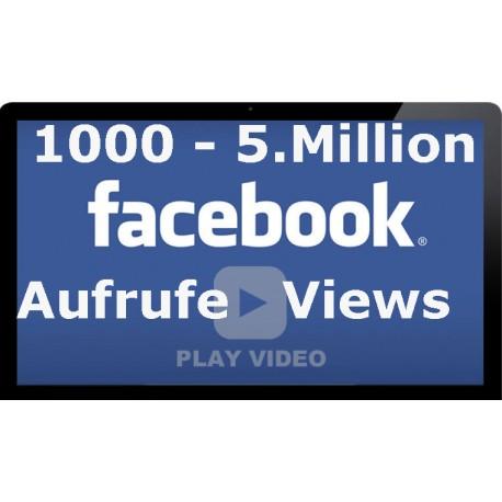 1.000 bis 5.000.000 HQ FACEBOOK VIDEO Klicks für Ihre Facebook video
