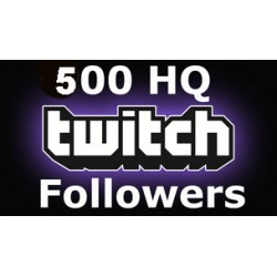 500 HQ Twitch Followers