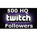 Buy 500 HQ Twitch Followers