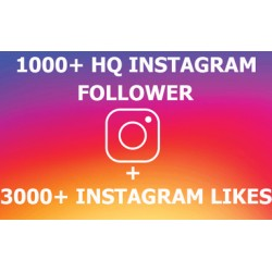 1000 Instagram Followers + 3000 Likes