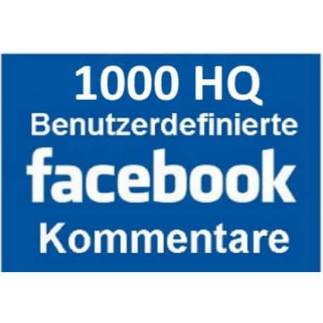 Facebook Benutzerdefinierte Kommentare