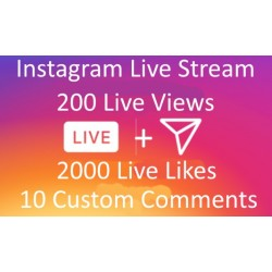 Buy Instagram Live Stream Views Like Comments