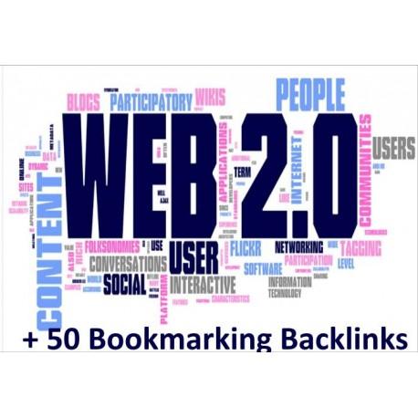 By-Hand Web 2.0 Backlinks On high PR website + 50 Bookmarking