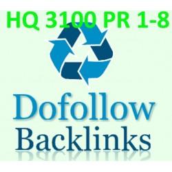 Buy 3100 DoFollow PR1-8 Backlinks