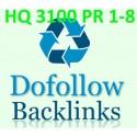 HQ 3100 DoFollow PR1-8 Backlinks