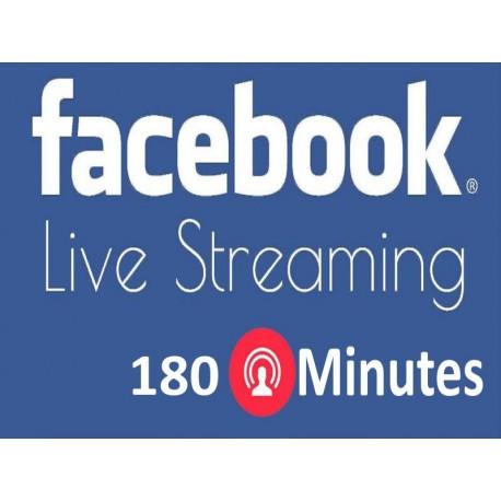 180 Minuten Facebook Live Stream Kaufen