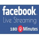 Buy 180 Minutes Facebook Live Stream Video