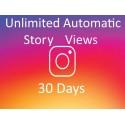 Buy automatic Instagram story views 30 days
