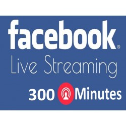 Buy 300 Minutes Facebook Live Stream Video