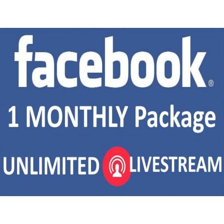 Facebook Live Stream für ein Monat Kaufen