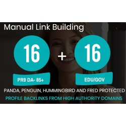 Manuell Top 16 PR9 + 16 EDU/GOV High PR Backlinks