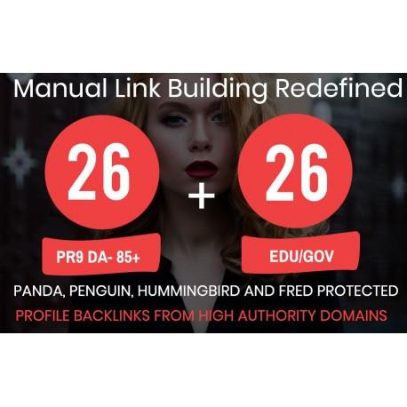 Manuell Top 26 PR9 + 26 EDU/GOV High PR Backlinks