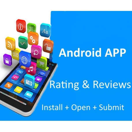 Buy Android APP 5 Stars Rating and Reviews